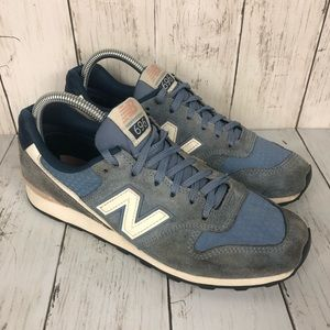 New Balance 696 Blue Suede Athletic Sneakers